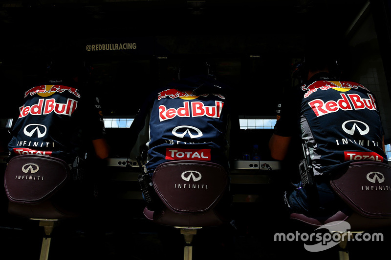 Red Bull Racing engineers