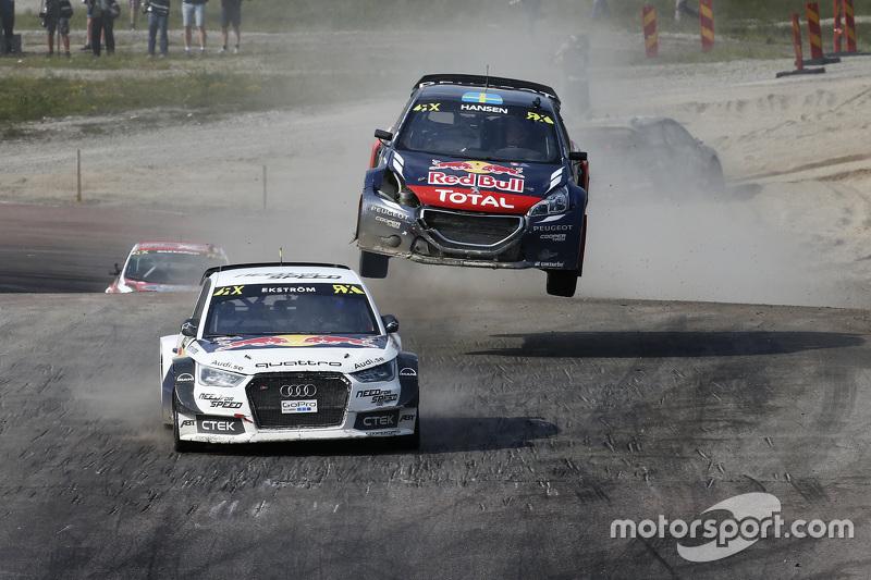 Mattias Ekström, EKSRX Audi S1 quattro, dan Timmy Hansen, Team Peugeot Hansen