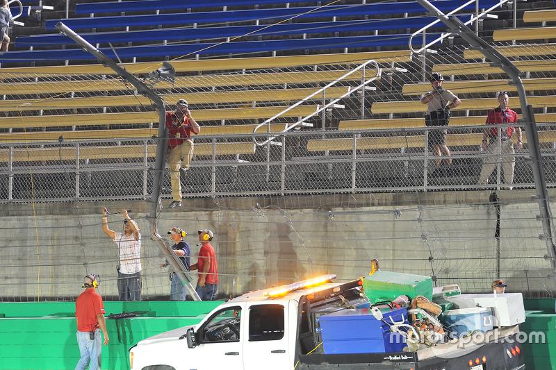Fence repairs at Kentucky