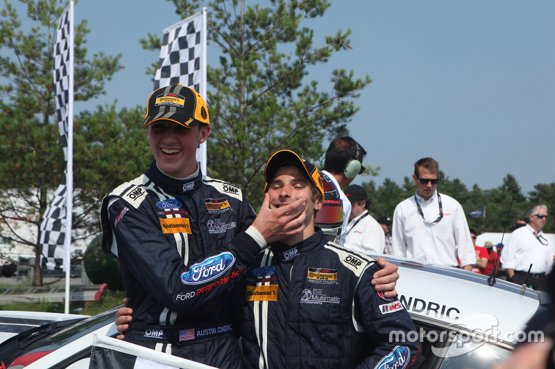 Race winners #158 Multimatic Motorsports Ford Mustang Boss 302R: Jade Buford, Austin Cindric