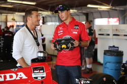 Chris Soules from The Bachelor and Graham Rahal, Rahal Letterman Lanigan Racing