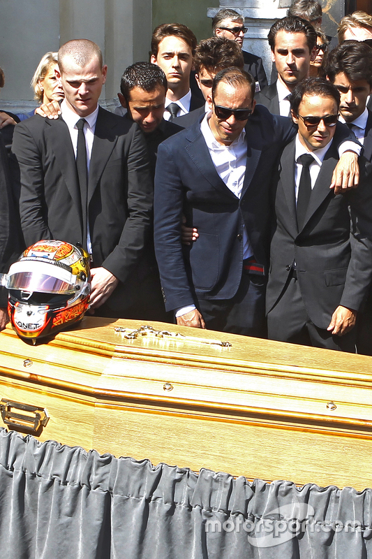Pastor Maldonado, dan Felipe Massa attend the funeral of Jules Bianchi in Nice, France