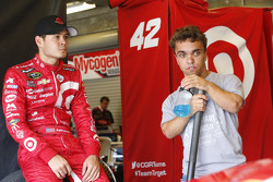 Kyle Larson, Chip Ganassi Racing Chevrolet and Rico Abreu