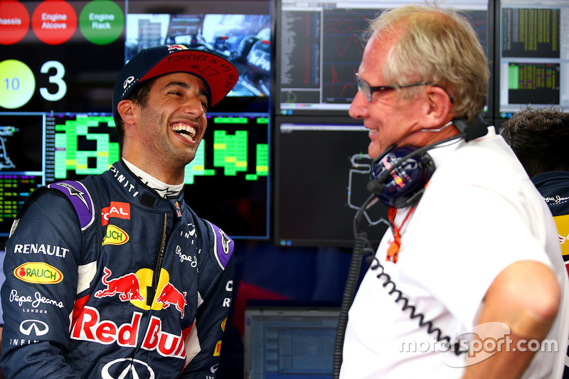 Daniel Ricciardo, Red Bull Racing with Dr. Helmut Marko
