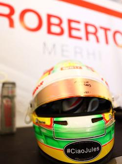 Helm Roberto Merhi, Manor F1 Team dengan tribut untuk Jules Bianchi