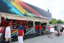 Formula One Team Merchandise stand
