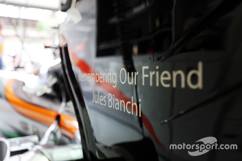 Sahara Force India F1 VJM08 віддає данину Жюлю Б'янкі