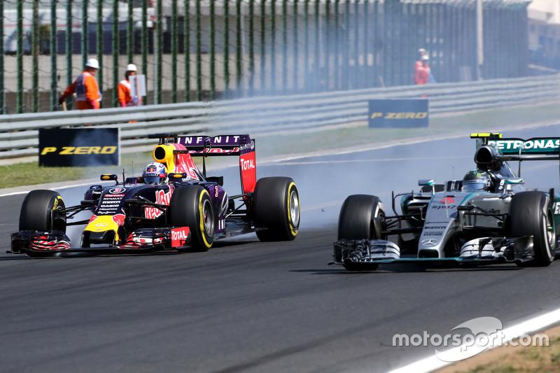 Daniel Ricciardo, Red Bull Racing e Nico Rosberg, Mercedes AMG F1 Team