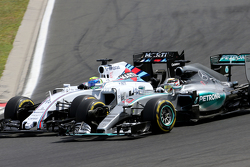 Felipe Massa, Williams F1 Team y Lewis Hamilton, Mercedes AMG F1 Team