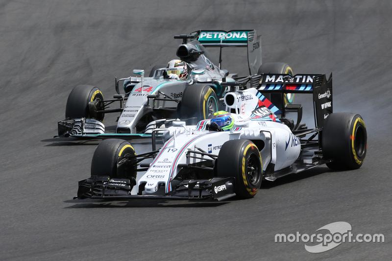 Felipe Massa, Williams F1 Team and Lewis Hamilton, Mercedes AMG F1 Team
