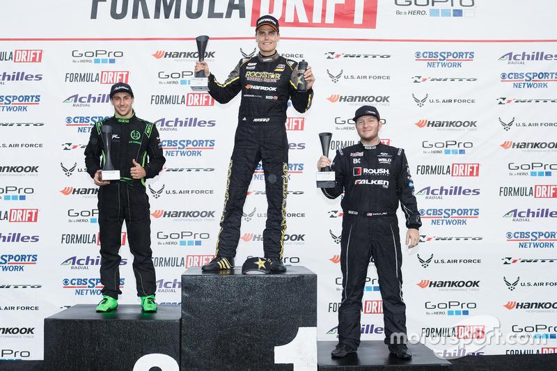 Pemenang balapan, Fredric Aasbo, peringkat kedua Alec Hohnadel, peringkat ketiga Justin Pawlak