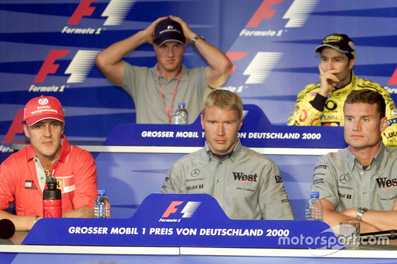 Rueda de prensa Jueves: Michael Schumacher, Ferrari y Ralf Schumacher, BMW Williams y Mika Hakkinen,