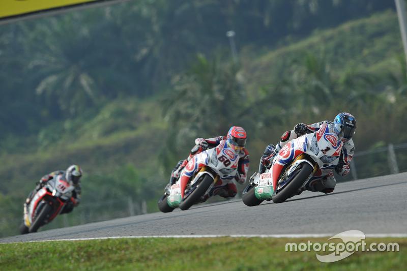 Sylvain Guintoli, Pata Honda; Michael van der Mark, Pata Honda