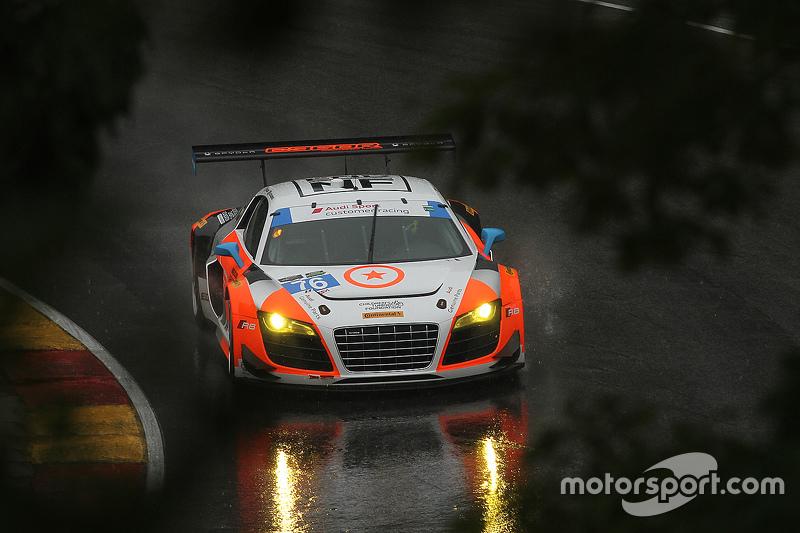 #76 Compass360 Racing Audi R8 LMS: Pierre Kleinubing, Ray Maсин