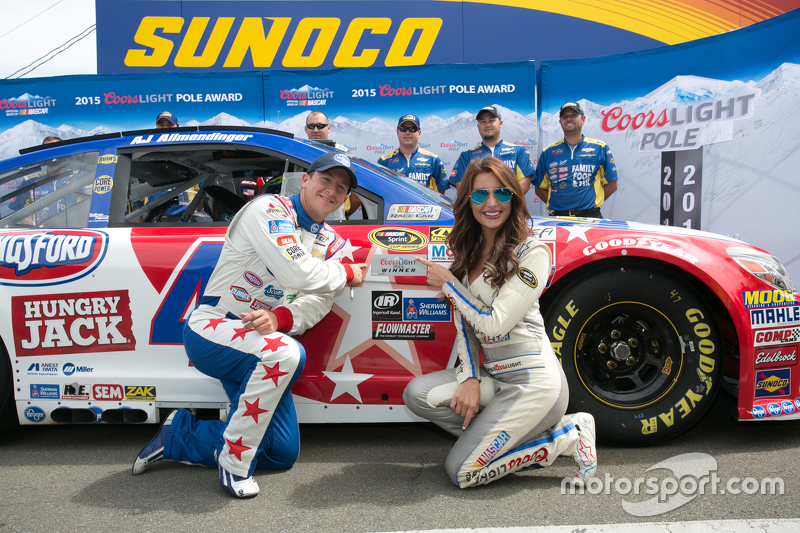 Polesitter A.J. Allmendinger, JTG Daugherty Racing Chevrolet