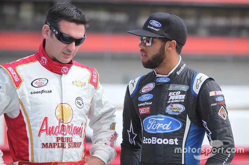 Andy Lally dan Darrell Wallace Jr.