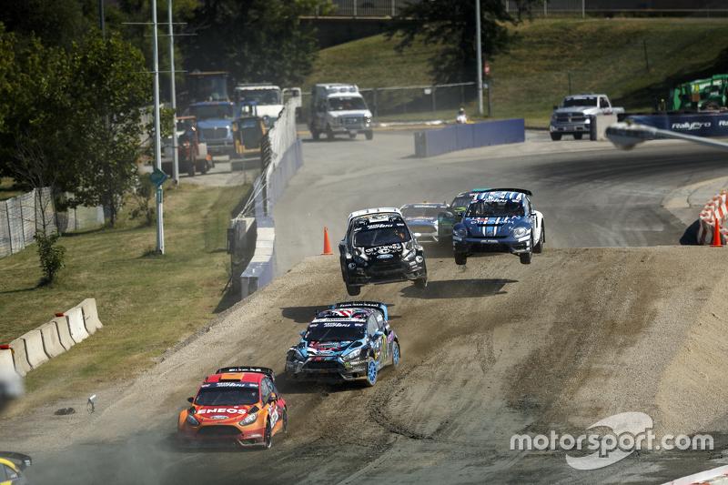 Steve Arpin, Chip Ganassi Racing Ford, dan Ken Block, Hoonigan Racing Division Ford, dan Austin Dyne, Bryan Herta Rallysport Ford, dan Scott Speed, Andretti Autosport Volkswagen