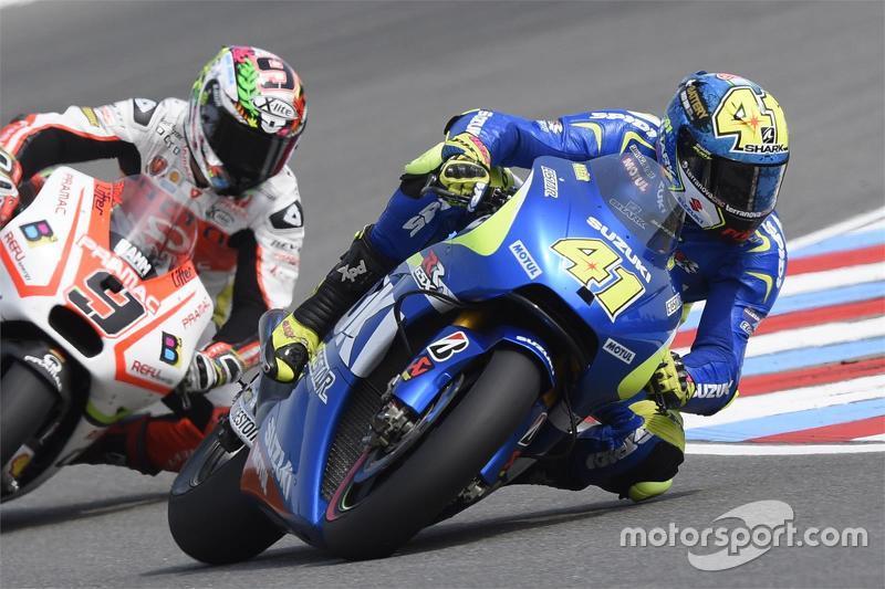 Aleix Espargaro, Team Suzuki MotoGP dan Danilo Petrucci, Pramac Racing Ducati