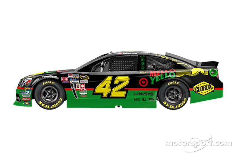 Southern 500 livery for Kyle Larson, Chip Ganassi Racing Chevrolet