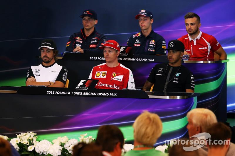 FIA Press Conference,): Max Verstappen, Scuderia Toro Rosso; Daniil Kvyat, Red Bull Racing; Will Ste