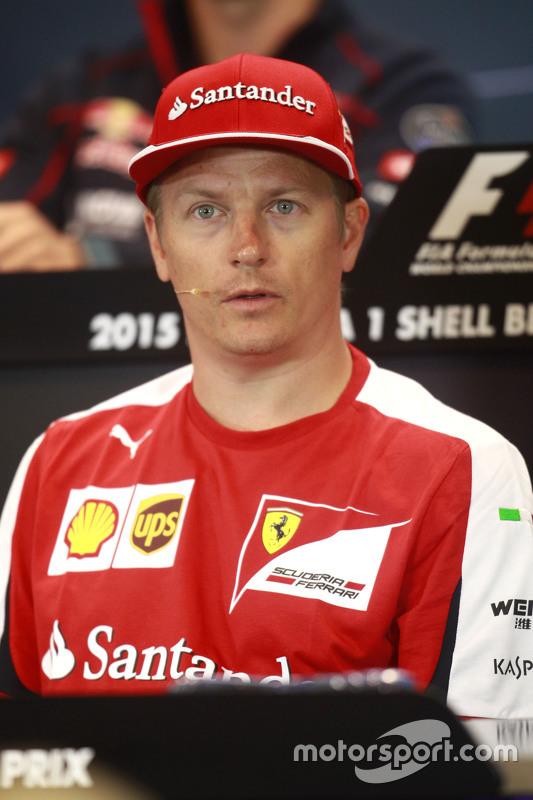 Kimi Raikkonen, Ferrari in the FIA Press Conference