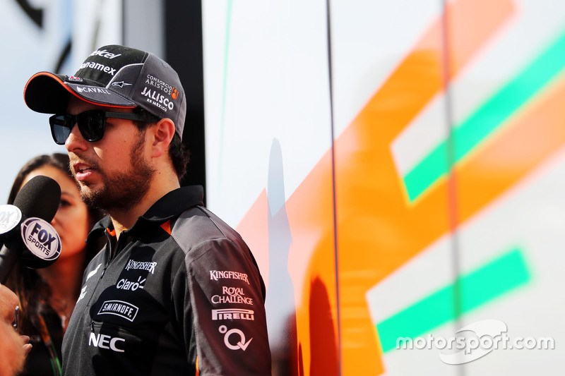 Sergio Perez, Sahara Force India F1 bersama media