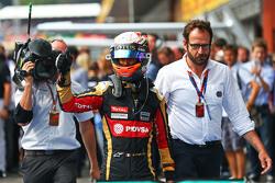 Ромен Грожан, Lotus F1 Team празднует третье место в закрытом парке