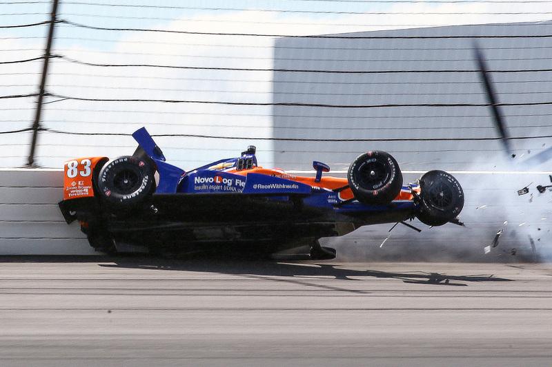 Charlie Kimball, Chip Ganassi Racing kecelakaan