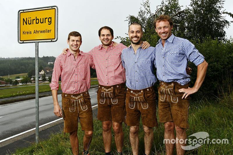 Майкл Крістенсен, Річард Літц, Фредерік Маковецкі, Патрік Пилі, Porsche Team in traditional German a