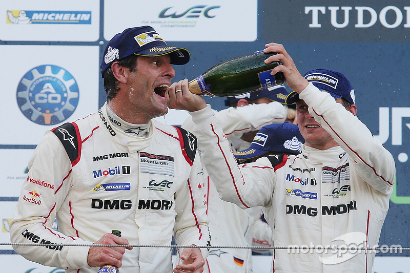 Podium: winner Mark Webber