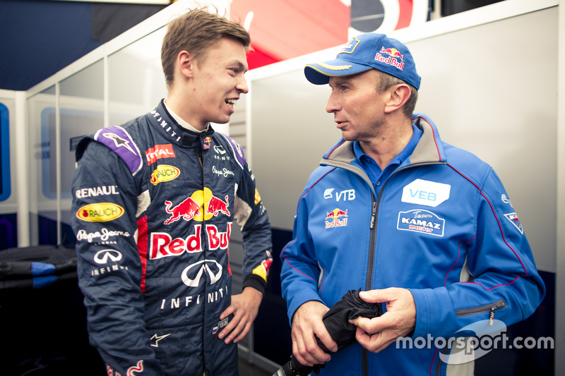 Daniil Kyvat, Red Bull Racing and Vladimir Chagin