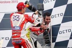 Podium: third place Andrea Dovizioso, Ducati Team and second place Danilo Petrucci, Pramac Racing Du
