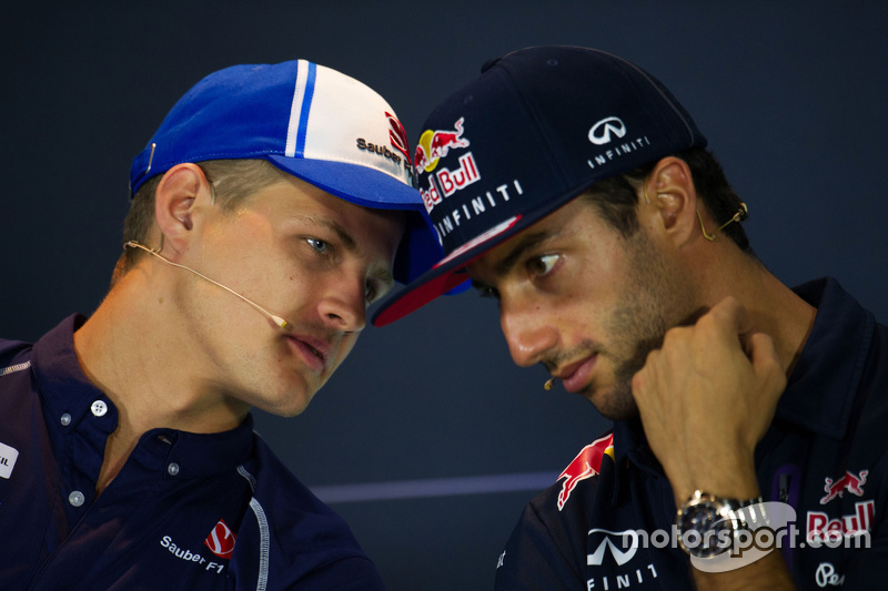 Маркус Ерікссон, Sauber F1 Team та Даніель Ріккіардо, Red Bull Racing