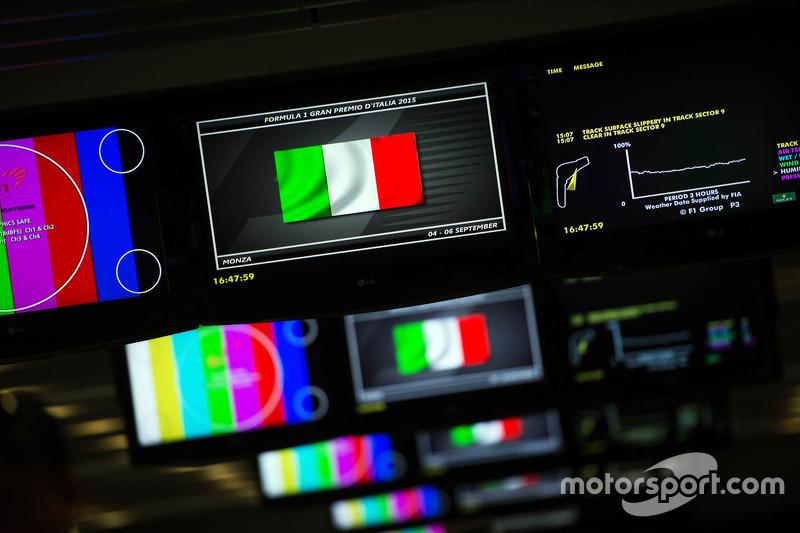 Italian flag on the Media Center TV screens