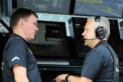 Alan Permane, Lotus F1 Team Trackside Operations Director with Paul Seaby, Lotus F1 Team Team Manager