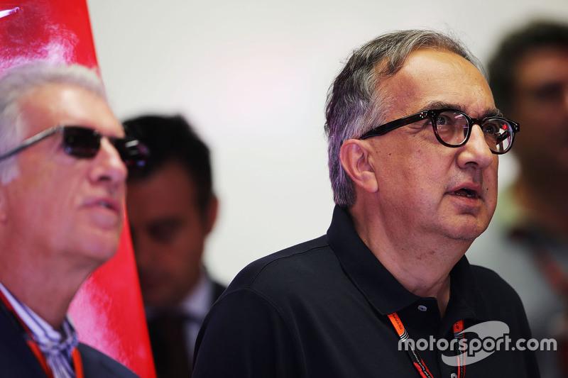 Piero Ferrari, Ferrari Vice-President with Sergio Marchionne, Ferrari President and CEO of Fiat Chry