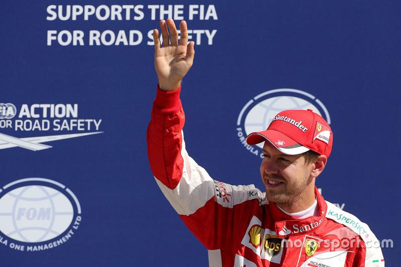 Terceiro Sebastian Vettel, Ferrari