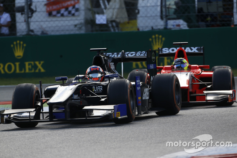 Patric Niederhauser, Team Lazarus leads André Negrao, Arden International