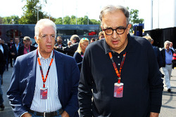 Piero Ferrari, Ferrari Vice-President with Sergio Marchionne, Ferrari President and CEO of Fiat Chrysler Automobiles