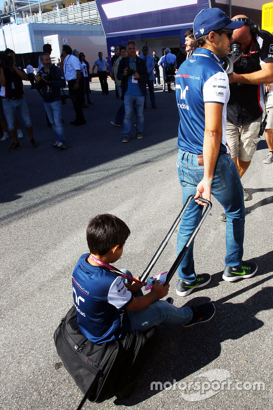 Felipe Massa, Williams, mit Sohn Felipinho Massa