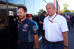 Кристиан Хорнер, руководитель команды Red Bull Racing и доктор Хельмут Марко, консультант Red Bull M