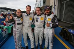Para juara balapan Adam Christodoulou, Hubert Haupt, Abdulaziz al Faisal, Yelmer Buurman, Black Falc