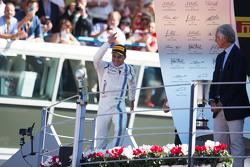 Фелипе Масса, Williams празднует третью позицию на подиуме