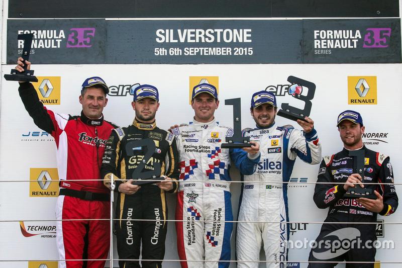 Pódio em Silverstone