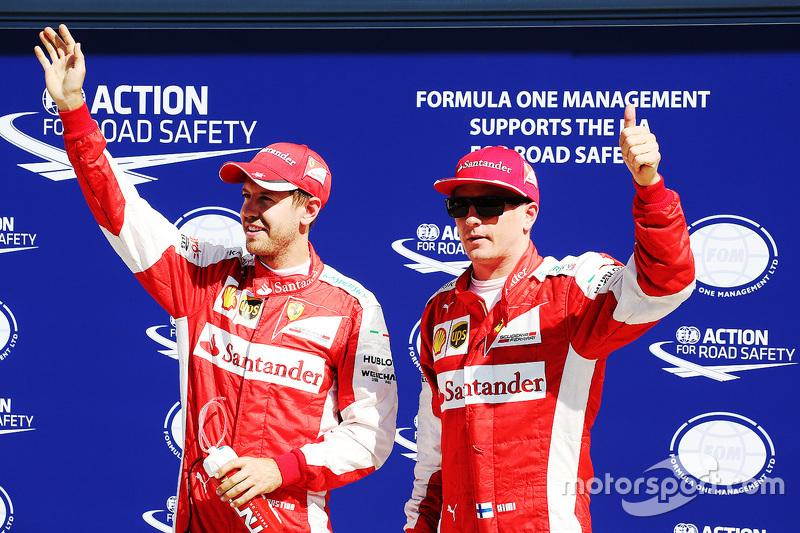 Qualifying: second place Sebastian Vettel, third place Kimi Raikkonen, Ferrari