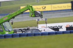 Christian Vietoris, HWA AG, Mercedes-AMG C63 DTM, im Kiesbett