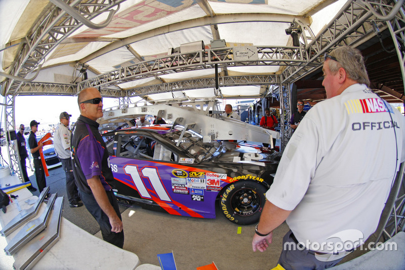 Tech inspection: Denny Hamlin, Joe Gibbs Racing Toyota
