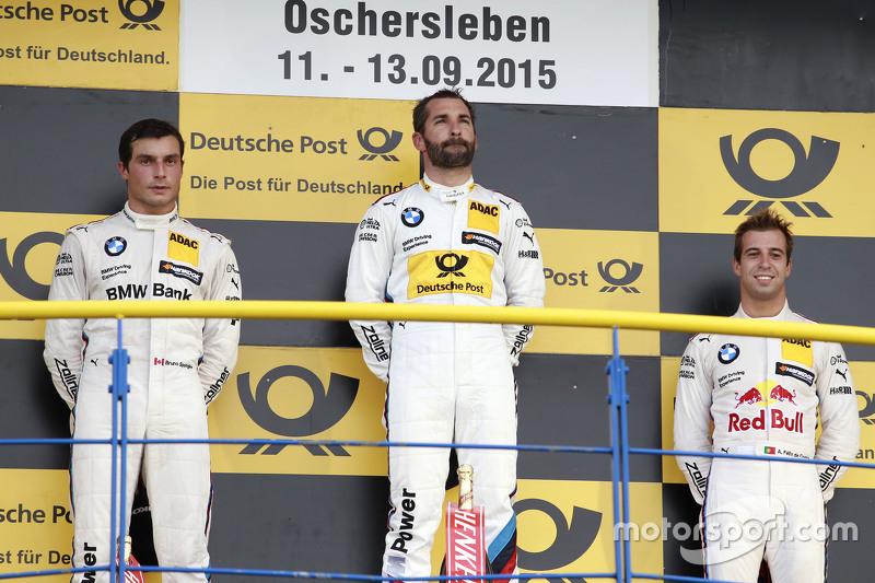 Podium: 2nd Bruno Spengler, BMW Team MTEK BMW M4 DTM, 1st Timo Glock, BMW Team MTEK BMW M3 DTM, 3rd Antonio Felix da Costa, BMW Team Schnitzer BMW M4 DTM