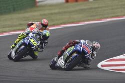 Jorge Lorenzo e Valentino Rossi, Yamaha Factory Racing and Marc Marquez, Repsol Honda Team