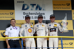 Podium: Bart Mampaey, BMW Team RBM; 2. Augusto Farfus, BMW Team RBM, BMW M4 DTM; 1. Tom Blomqvist, BMW Team RBM, BMW M4 DTM; 3. Marco Wittmann, BMW Team RMG, BMW M4 DTM